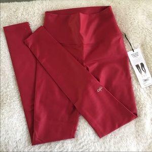 ALO yoga Airbrush crimson red high waist legging S